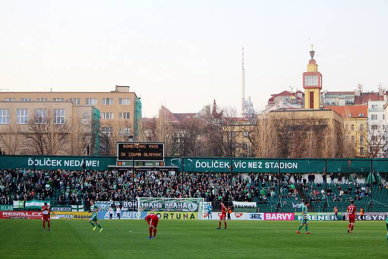 Čtvrtfinále poháru MOL Cup. Bohemians Praha 1905 - Sigma Olomouc