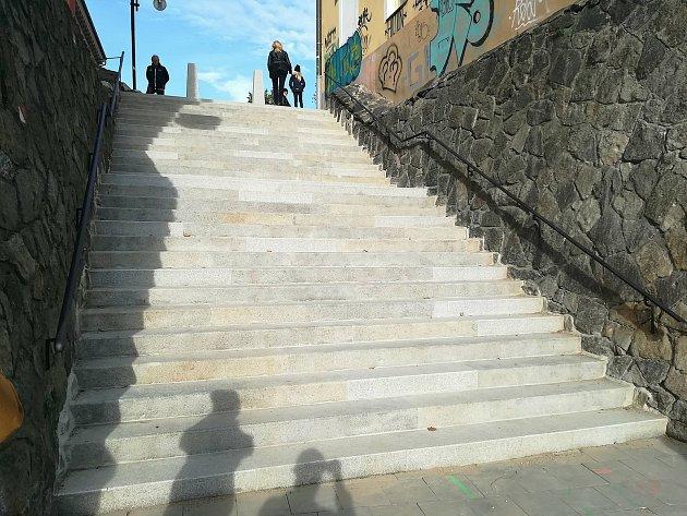 Opravené Blažejské schody v Olomouci