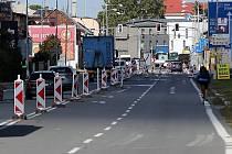 Opravy v Rolsberské.ulici v Olomouci. Ilustrační foto