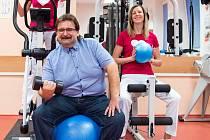Pan Josef. Jeden z účastníků programu řízené redukce hmotnosti, který zavedla a úspěšně provozuje Klinika tělovýchovného lékařství a kardiovaskulární rehabilitace FN Olomouc