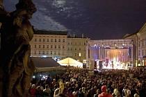 Představení Moravského divadla na na Horním náměstí v Olomouci