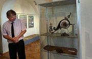 Miroslav Petřík na výstavě o historii komunálních služeb v olomouckém Vlastivědném muzeu v roce 2014