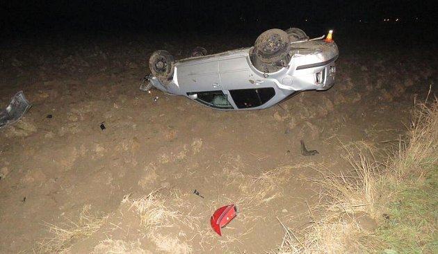 nehoda opilého řidiče VW Bora uStřelic