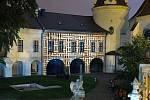 Videomapping na fasádě Arcidiecézního muzea v Olomouci. Festival Vzáří