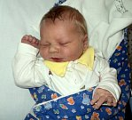 Karel Střecha, Lukavice, narozen 21. března, míra 53 cm, váha 4290 g