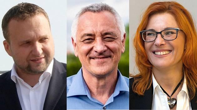 Někteří z lídrů politických stran kandidujících do zastupitelstva Olomouckého kraje ve volbách 2020