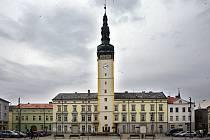 Radnice s věží v Litovli.
