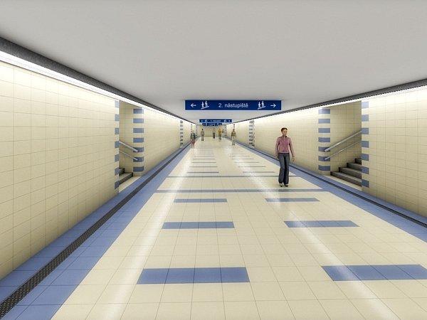 Vizualizace přestavby Železniční stanice Olomouc - Proměnou kromě kolejí projdou také nástupiště - Opravy se dočká starý podchod zvýpravní budovy kperónům