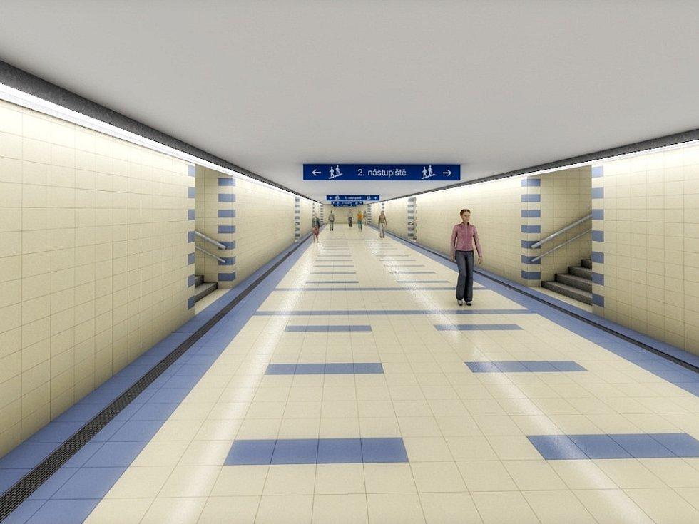 Vizualizace přestavby Železniční stanice Olomouc - Proměnou kromě kolejí projdou také nástupiště - Opravy se dočká starý podchod z výpravní budovy k perónům