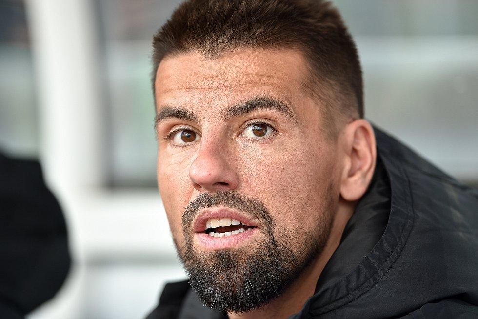 Finále fotbalového poháru MOL Cupu: FC Baník Ostrava - SK Slavia Praha, 22. května 2019 v Olomouci. Milan Baroš.