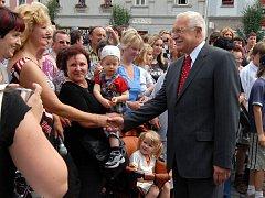 V Uničově pobyl i prezident Václav Klaus.