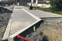 Rekonstrukce průtahu Šternberkem, ulice Věžní. 1. června 2020