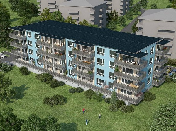 Topolová - vizualizace bytového domu ve Slavoníně
