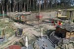 Září 2019. Oprava Lanáčku v olomoucké zoo po škodách způsobených vichřicí a kůrovcem
