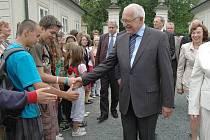 Prezident Václav Klaus v Náměšti na Hané