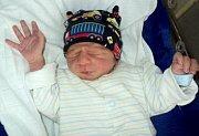 Tomáš Vrána, Šternberk, narozen 5. února ve Šternberku, míra 42 cm, váha 2060 g