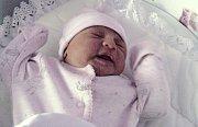 Liliana Hlaváčová, Moravský Beroun, narozena 13. září v Olomouci, míra 50 cm, váha 3180 g