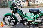 Havárie mopedu v Drahanovicích