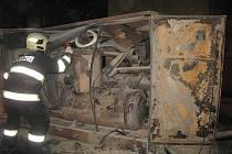 Požár kompresoru v Brníčku