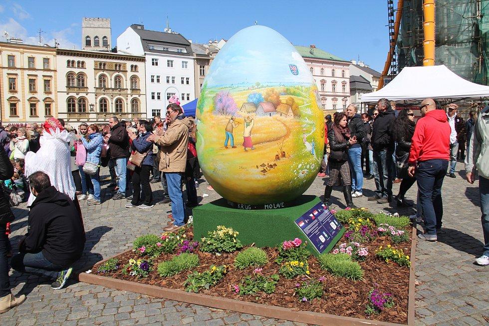 Velikonoční jarmark na Horním náměstí v Olomouci 2018