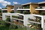 Rezidence U parku - vizualizace bytových domů na Lazcích