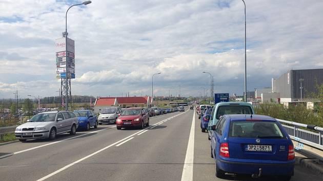Dopravní kolaps u Olympie