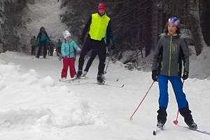 Běžkování v okolí vrcholu Skalky na Drahanské vrchovině - 27. 1. 2019