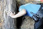Hasiči, záchranáři a policie zasahují u pádu dítěte do díry v olomouckých Smetanových sadech