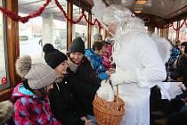 Mikulášská jízda tramvají v sobotu 7. prosince 2019 v Olomouci