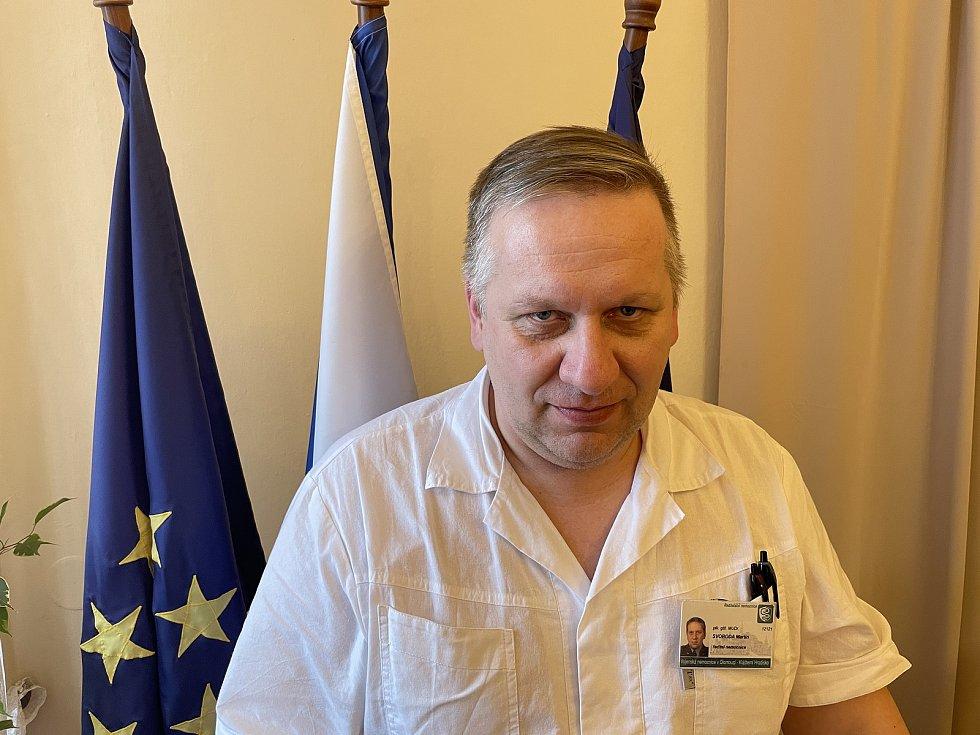 Ředitel Vojenskénemocnice Olomouc, plk. gšt. v. z. MUDr. Martin Svoboda, 28. ledna 2021