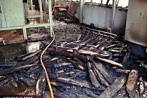 Požár pily v Uničově