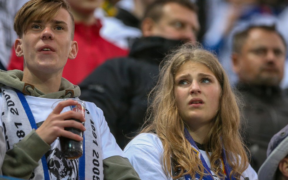 Finále fotbalového poháru MOL Cupu, Baník Ostrava - Slavia Praha 22.května 2019 v Olomouci. Fanoušci Baníku