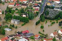 Zaplavené Troubky, úterý 18. května, 7 hodin ráno