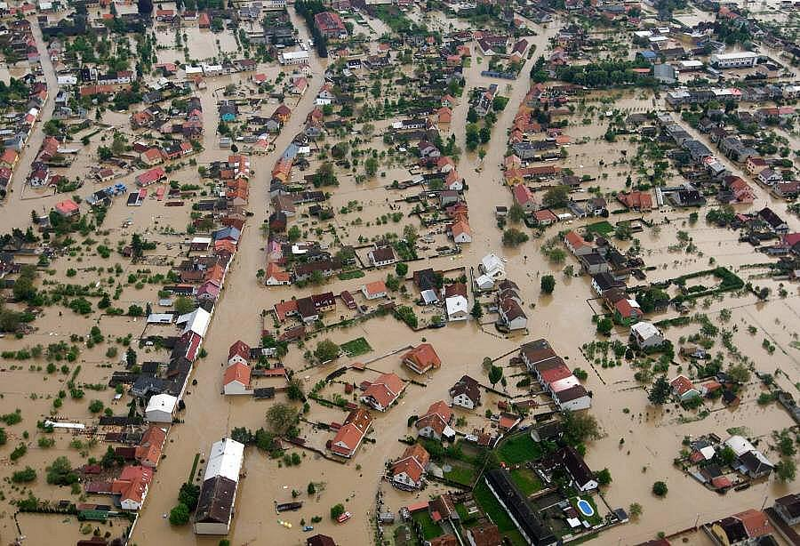 Zaplavené Troubky, úterý 18. května 2010, 7 hodin ráno