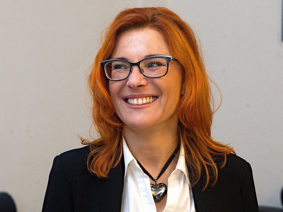 Zuzana Majerová Zahradníková v kanceláři ODS v Olomouci