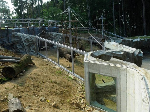 Stavba pavilonu levhartů v olomoucké zoo