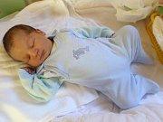 Šimon Tomášek, Drozdov, narozen 9. září v Olomouci, míra 50 cm, váha 3250 g