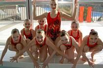 Stříbrné mladší žákyně Olomouce na MČR v synchronizovaném plavání
