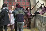 Natáčení pohádky Princezna zakletá v čase na hradě Bouzov.