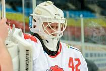 Brankář HC Olomouc Branislav Konrád.
