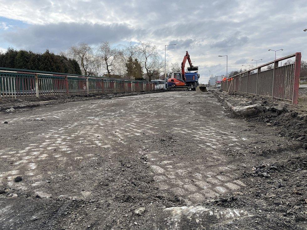 Rekonstrukce průtahu Litovlí, 17. března 2021