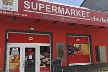 Supermarket Anička v Náměšti na Hané