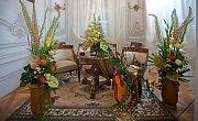 Tradiční výstava Květiny pro zámeckou paní na zámku v Náměšti na Hané.