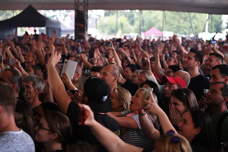 Koncert skupiny Kabát ve Funparku Šantovka v Olomouci, 3. srpna 2021