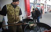 Prodej kaprů z Tovačova.