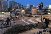 Bezbariérové úpravy křižovatky ve Velkomoravské ulici