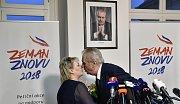 Miloš Zeman po vítězství v prvním kole prezidetských voleb 2018
