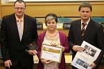 Předávávání cen Zlatý erb: 1. místo mezi obcemi: Libina