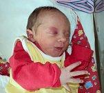 Laura Kelichová, Želechovice, narozena 5. září ve Šternberku, míra 46 cm, váha 3040 g
