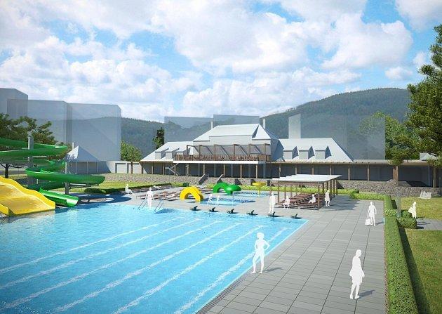 Vizualizace Regionálního aquaparku Jeseník